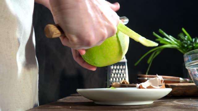 chicken salad cooking - scallion stock videos & royalty-free footage