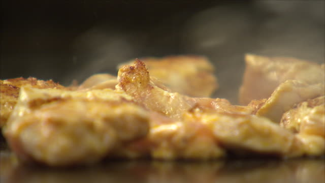 chicken shish kebab cooking - skewer stock videos & royalty-free footage