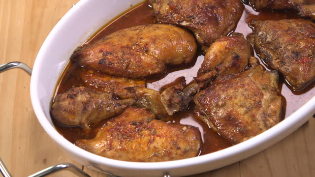 chicken with garlic and lemon - eastern european culture stock videos & royalty-free footage