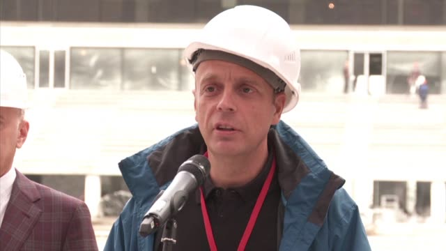 fifa chief competitions and events officer describes the progress of the construction of luzhniki stadium one of 2018 world cup venues as on track - luzhniki stadium stock videos & royalty-free footage
