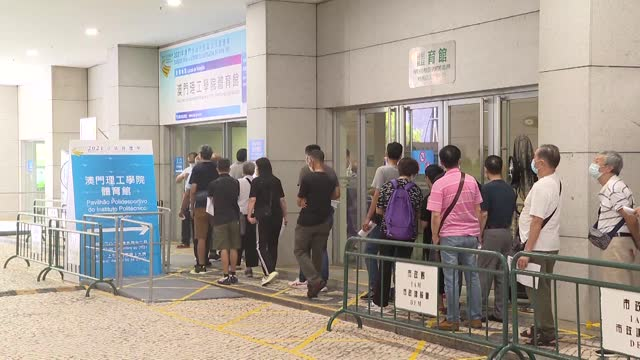 chief executive of macao special administrative region ho iat seng expectes every citizen to actively vote in the election of the seventh legislative... - macao stock videos & royalty-free footage