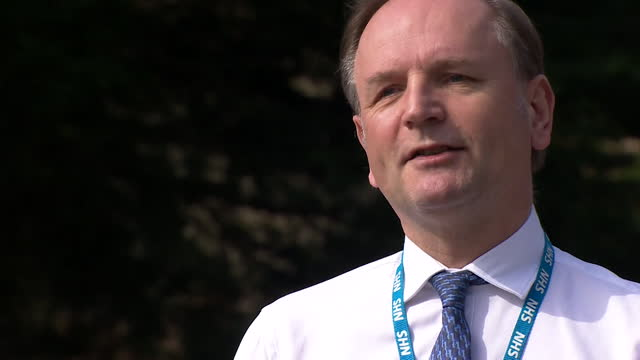"""chief executive sir simon stevens saying the nhs have """"set the blueprint"""" during the coronavirus crisis """"for the next phase of what the nhs needs to... - スキップトン点の映像素材/bロール"""