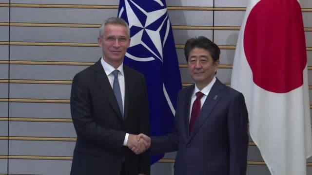 NATO chief Jens Stoltenberg meets with Japanese Prime Minister Shinzo Abe and discusses the North Korean issue during a visit to Japan