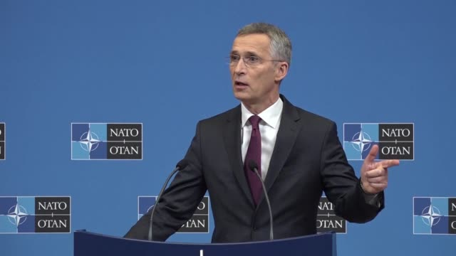 nato chief jens stoltenberg says russia's new missile systems is part of a broader picture and the latest example of moscow's increasingly assertive... - posture stock videos and b-roll footage