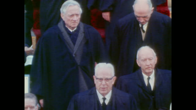 Chief Justices find their seats before inauguration begins