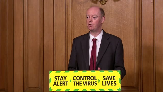 chief medical officer chris whitty saying some sectors will have to shut whilst others reopen to keep coronavirus risk down and acknowledging these... - concepts stock videos & royalty-free footage