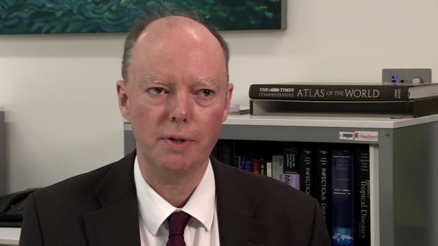 """chief medical officer professor chris whitty saying there's a """"fair chance"""" there will be some cases of coronavirus in the uk - chance stock videos & royalty-free footage"""