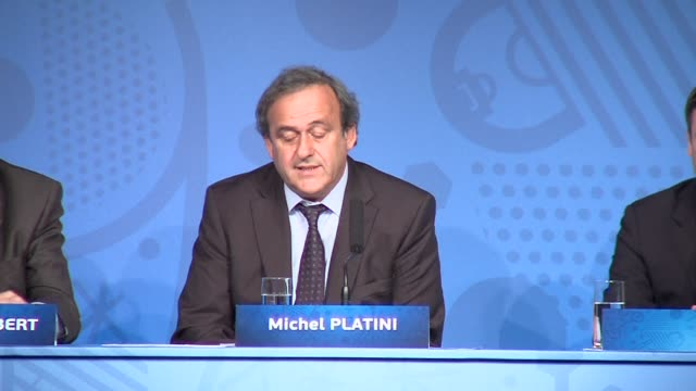 uefa chief michel platini on wednesday gave his account of events leading to french prime minister manuel valls using a government jet to attend the... - uefa champions league stock videos and b-roll footage