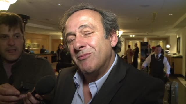 chief michel platini says the organisations executive committee will meet in the afternoon amid corruption allegations against high ranking fifa... - fifa stock videos & royalty-free footage