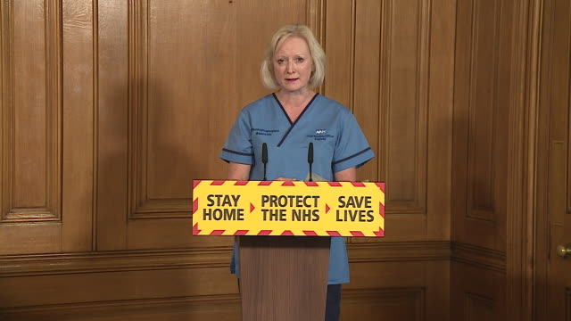 nhs chief nursing officer ruth may paying tribute to two nhs staff members who died helping to tackle the coronavirus crisis - martyr stock videos & royalty-free footage