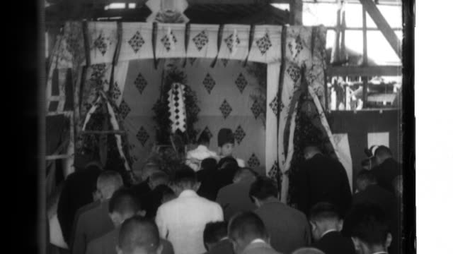 chief priest akioka performs shinto rituals before worshipers at hie shrine after improvements to the exterior of the structure - shinto stock videos & royalty-free footage