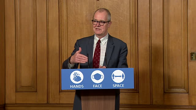 chief scientific advisor sir patrick vallance saying the new coronavirus variant has spread around the uk - advice stock videos & royalty-free footage