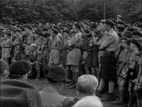 chief scout lord rowallan visits scout camp in maidstone england kent maidstone buckmore park ext sign displayed at scout camp catholic scouts... - maidstone hospital stock videos and b-roll footage