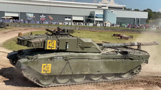 chieftain battle tanks put on a demonstration for the crowds on september 18, 2021 in bovington, england. the bovington tank museum holds the world's... - land vehicle stock videos & royalty-free footage