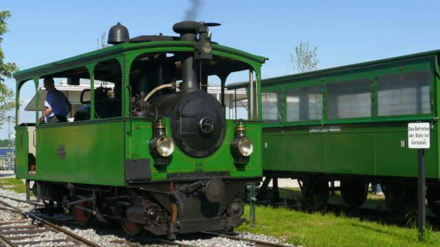 chiemsee railway in prien, chiemgau, upper bavaria, germany, europe - the past stock videos & royalty-free footage