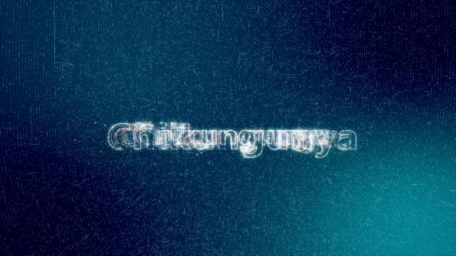 animazione del titolo di chikungunya - vettore della malattia video stock e b–roll