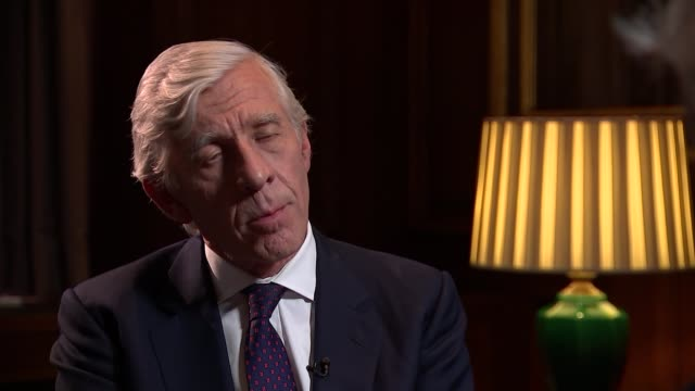 jack straw interview jack straw interview sot i went along with it because i genuiely believed the intelligence i was appalled by the dodgy dossier... - jack straw stock videos and b-roll footage