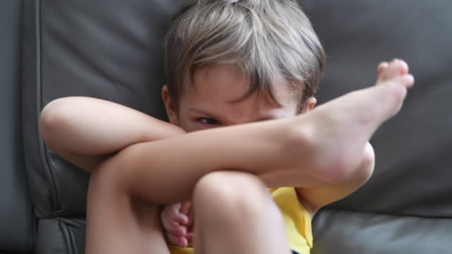 child boy having a tantrum - home interior stock videos & royalty-free footage