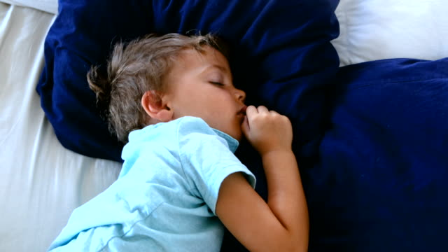 child boy sleeping - 2 3 years stock videos & royalty-free footage
