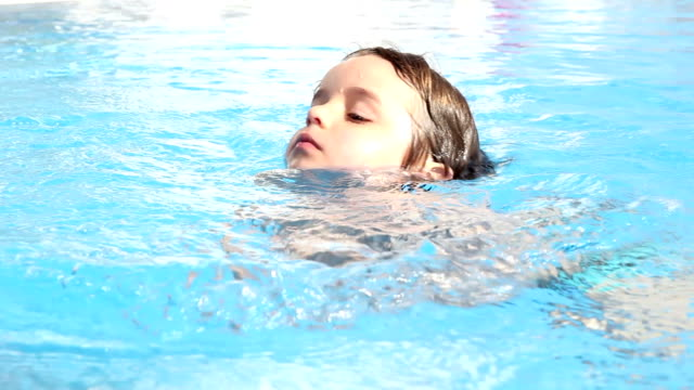 child boy swimming - swimming stock videos & royalty-free footage