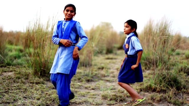 child dancing outdoor in the nature - haryana stock videos & royalty-free footage