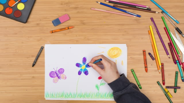 Child drawing timelapse