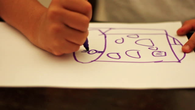 child drawing - school child stock videos & royalty-free footage