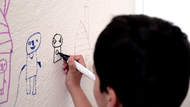 Kind Zeichnung Wand
