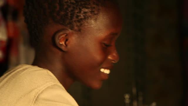 child dressmaker in senegal - senegal stock videos & royalty-free footage