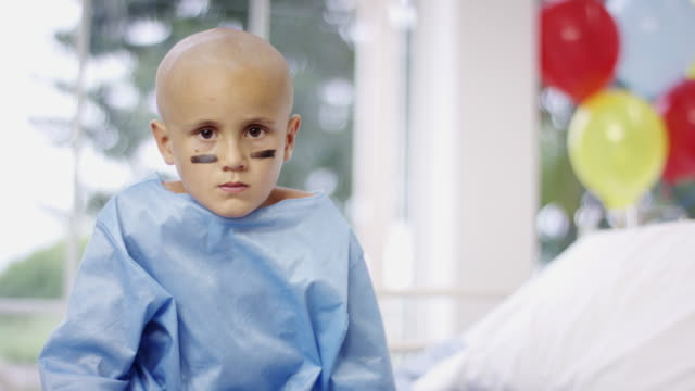 Child Fighting Cancer at Hospital