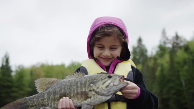 Child fishing for bass