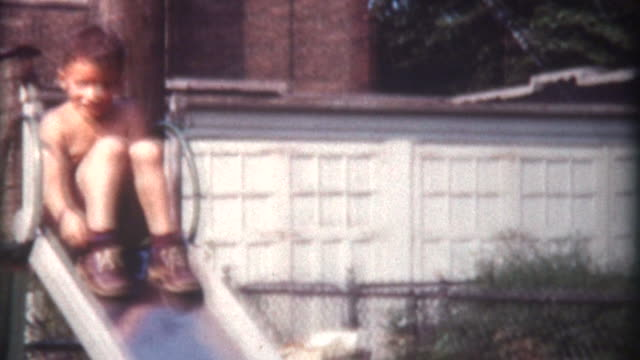 Child on Slide 1959