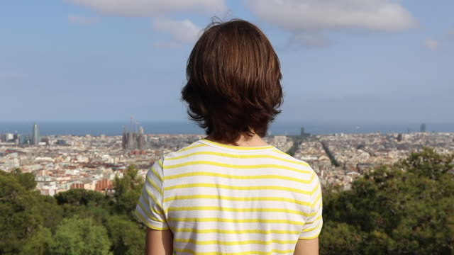 child portrait view of Barcelona