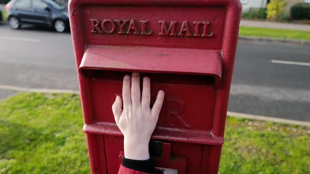child posts a letter to father christmas on december 06, 2020 in essex, england. - message stock videos & royalty-free footage