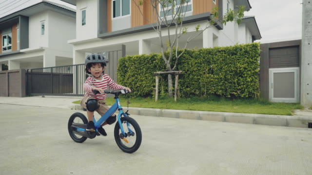 child riding bicycle. - saddle stock videos & royalty-free footage