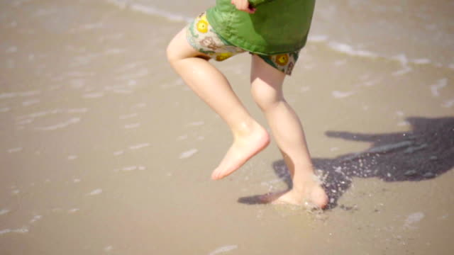 Child run on beach