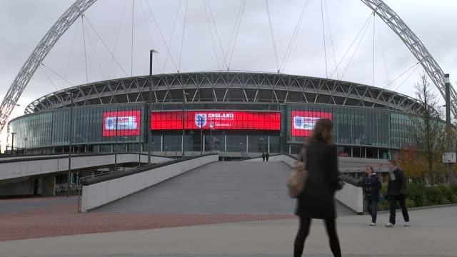 child sex abuse claims: andy woodward interview / wembley stadium; england: london: wembley stadium: ext general views of wembley stadium andy... - wembley stadium stock videos & royalty-free footage
