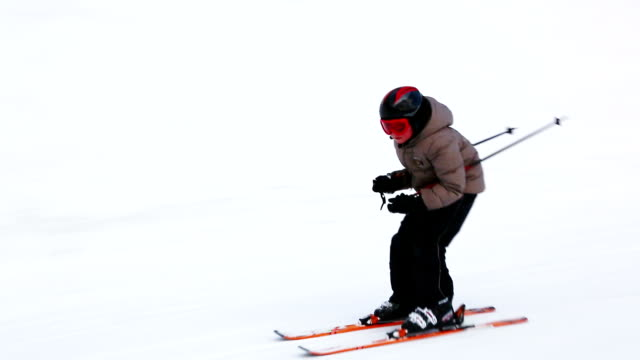 HD Child skier on slope