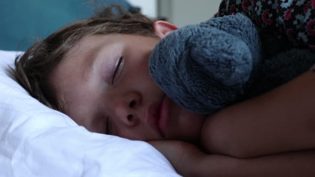 child sleeps - bedclothes stock videos & royalty-free footage