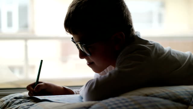 child studying - daydreaming stock videos & royalty-free footage