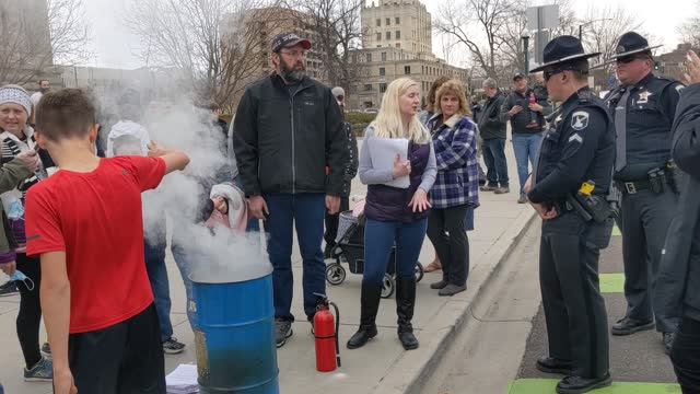 ID: Mask Burning Protest Against COVID-19 Restrictions Held In Idaho