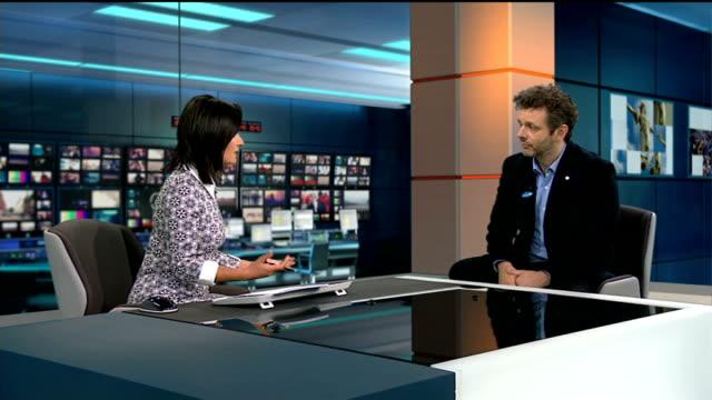 michael sheen interview england london gir int michael sheen live interview sot - michael sheen stock-videos und b-roll-filmmaterial