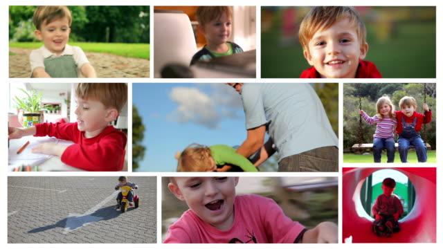 vídeos de stock, filmes e b-roll de montagem de alta definição: para criança - parede de vídeo