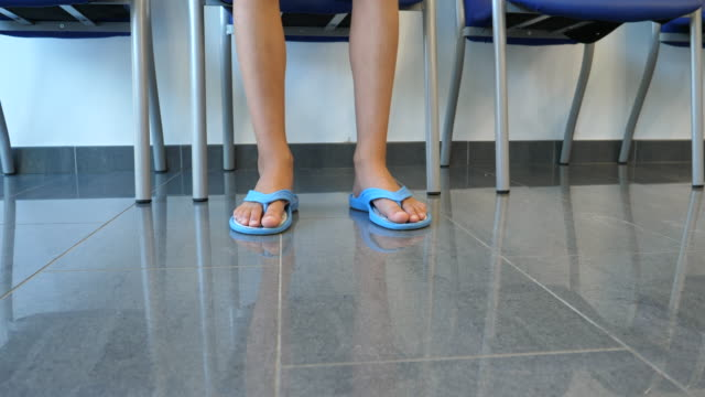 Child waiting in hospital in Mallorca