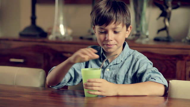 child with ecological straw - reusable stock videos & royalty-free footage