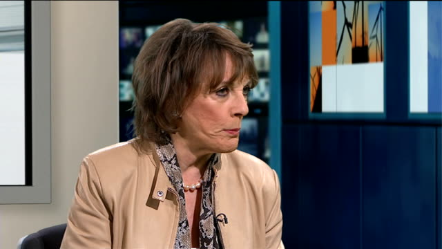 Childline charity reports surge in reported online bullying ENGLAND London GIR INT Esther Rantzen LIVE studio interview SOT