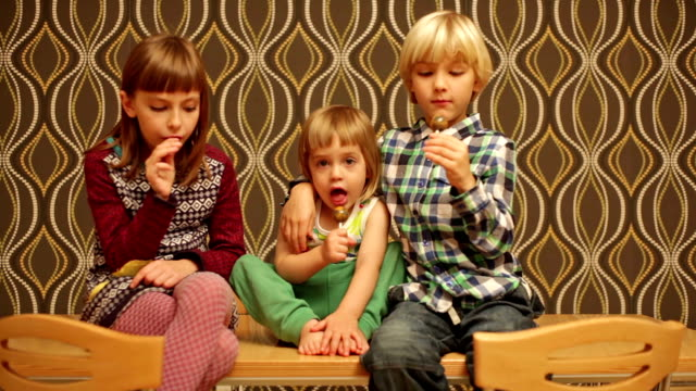 children and lollipops - lollipop stock videos and b-roll footage