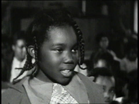 1939 montage children and teacher inside classroom / lowndes county, alabama, united states - braided hair stock videos & royalty-free footage