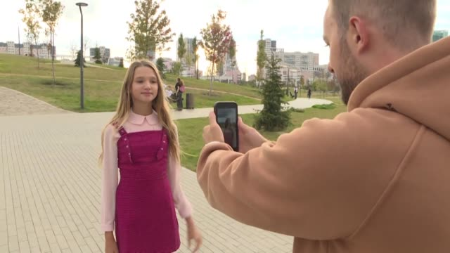 children are among the most viewed bloggers in russia - science and technology stock videos & royalty-free footage