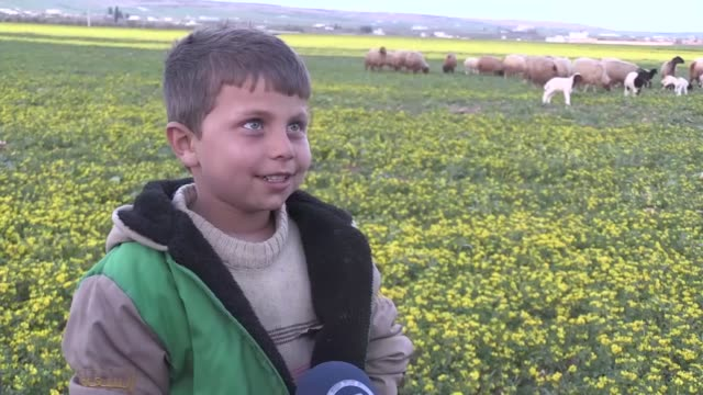 Children are dreaming go back to school that head of city council tells journalist in AlBab Syria on March 8 2017 AlBab was liberated by Turkish Army...